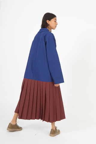 Sofie D'Hoore Drive Dress in Cobalt and Bordeaux | Oroboro Store | New York, NY