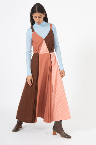 Rejina Pyo Rosa Dress in Rust Tonal and Cotton Pink | Oroboro Store | New York, NY