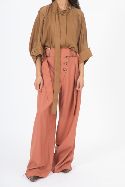Rejina Pyo Stevie Trousers in Dusty Coral | Oroboro Store | New York, NY
