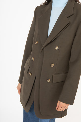 Rejina Pyo Elliot Jacket in Khaki Smoke | Oroboro Store | New York, NY