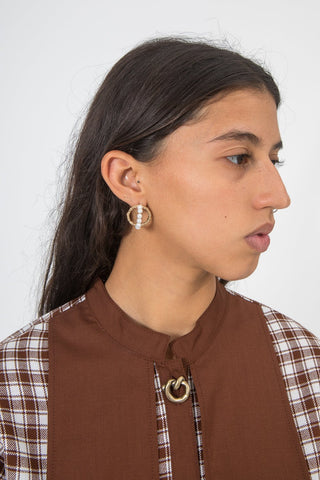 Mirit Weinstock Petite Hoops & Pearls Earrings | Oroboro Store | New York, NY
