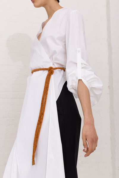 Veronique Leroy Wrap Top in Color 01 White | Oroboro Store | New York, NY