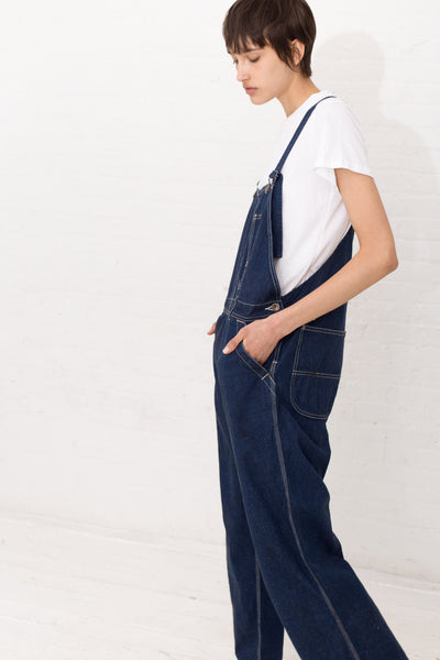 Chimala Denim Overall in Distress Rinse | Oroboro | New York, NY