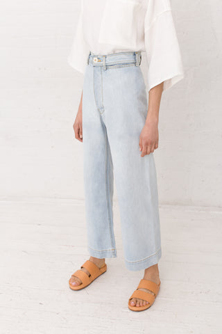 Jesse Kamm Sailor Pant in Bleached Denim | Oroboro | New York, NY
