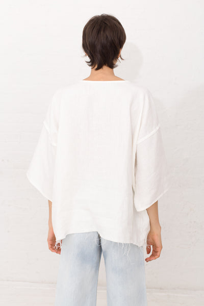 Jesse Kamm The Gatherer Top in Salt | Oroboro | New York, NY