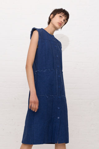 Delfina Balda Arnik Vest in Dark Denim | Oroboro Store | New York, NY