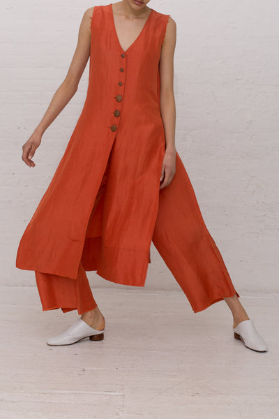 Delfina Balda Nola Top in Persimmon | Oroboro Store | New York, NY