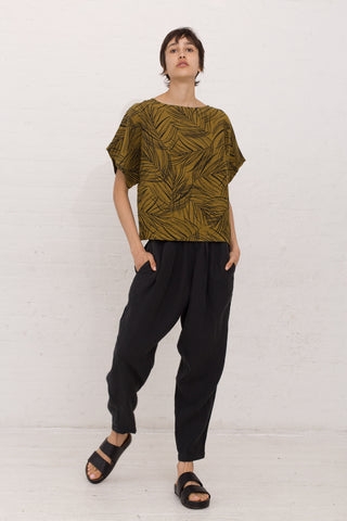 Black Crane Carpenter Pant in Green Black | Oroboro Store | New York, NY