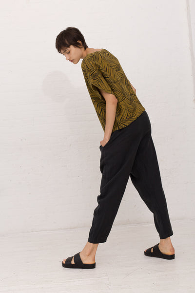 Carpenter Pant in Green Black