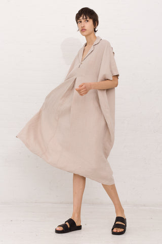 Black Crane Kite Dress in Oatmeal | Oroboro Store | New York, NY