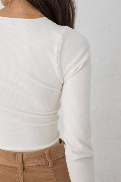 Baserange Aid Longsleeve in Off White / Buckle Cotton Knit | Oroboro Store | New York, NY