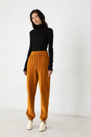 Baserange Sweat Pants in Theta Brown / Velours | Oroboro Store | New York, NY