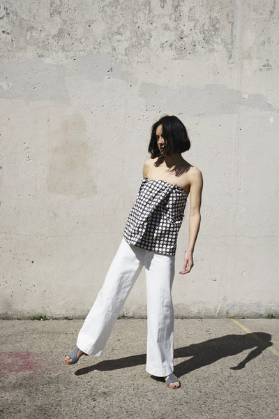Jesse Kamm Sailor Pant in Salt White | Oroboro | Brooklyn, New York
