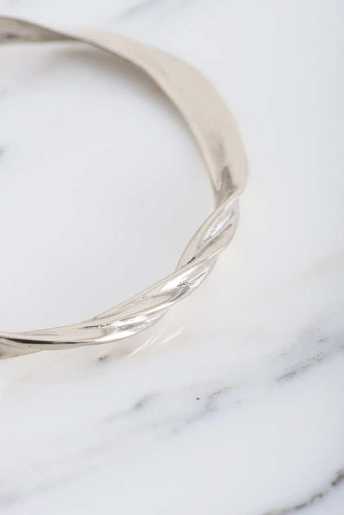 Samma Twixt Cuff in White Bronze | Oroboro Store | Brooklyn, New York