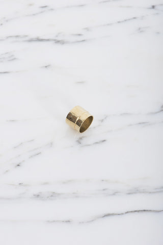Samma Valve Ring #1 in Brass | Oroboro Store | Brooklyn, New York