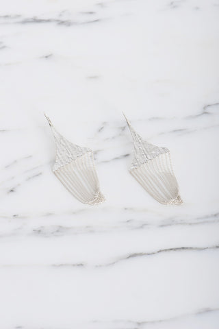 HannahK Chandelier Earring in SIlver | Oroboro Store | Brooklyn, New York