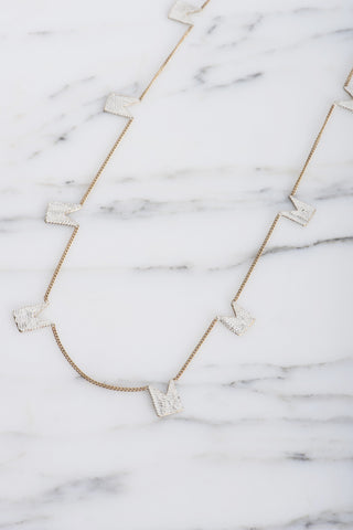 HannahK Tags Necklace in White Brass | Oroboro Store | Brooklyn, New York