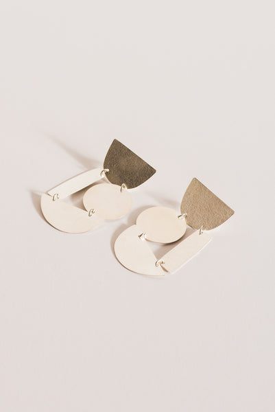 Annie Costello Brown Masha Earrings in Silver | Oroboro Store | New York, NY