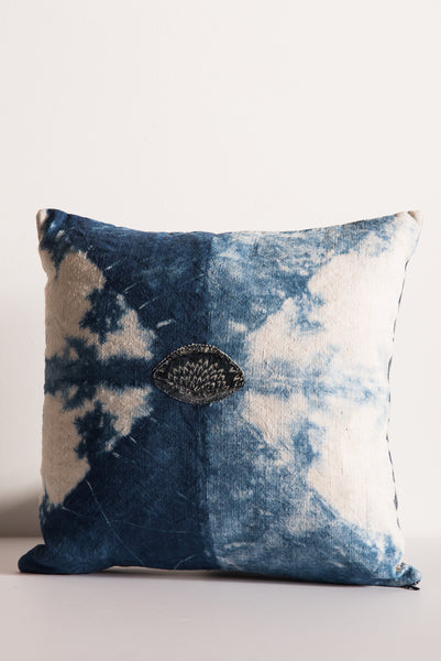 Samantha Verrone Boro Patch Pillow in Antique Linen | Oroboro Store | New York, NY