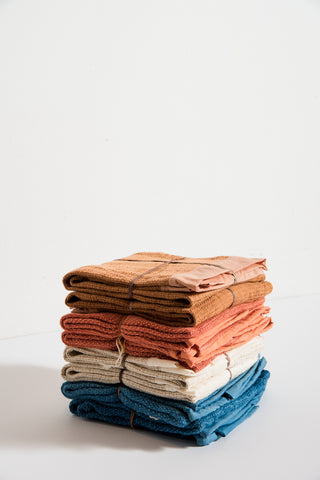 SIN Stripes Hand Towel in Rust | Oroboro Store | New York, NY