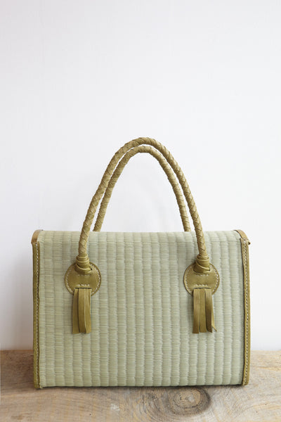 Eatable of Many Orders Tatami Handbag in Green | Oroboro Store | Brooklyn, New York