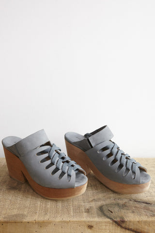 A Detacher Etta Clog Pale Blue Nubuck | Oroboro Store | Brooklyn, New York