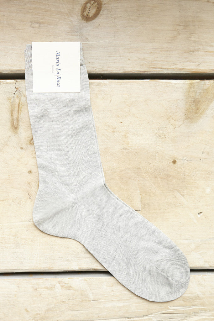 Maria La Rosa Trouser Socks in Perla Grey | Oroboro Store |  Brooklyn, New York