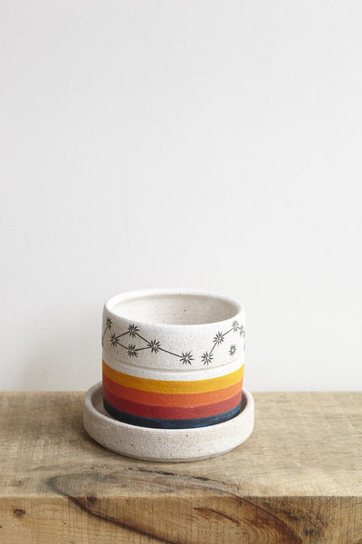 MQuan Small Planter in Rainbow with Constellations | Oroboro Store | Brooklyn, New York