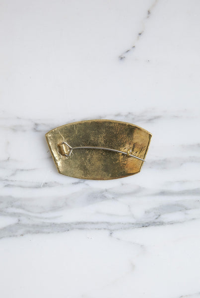 Erin Considine Ulu Pin in Brass | Oroboro Store | Brooklyn, New York