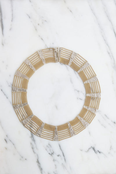 HannahK Collar In Warm Brass | Oroboro Store | Brooklyn, New York