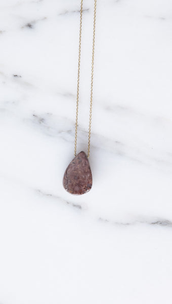 Jessica Winzelberg Drop Necklace in Boulder Opal | Oroboro Store | Brooklyn, New York
