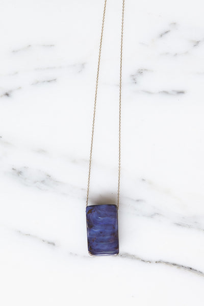 Jessica Winzelberg Rectangle Boulder Opal Pendant | Oroboro Store | Brooklyn, New York