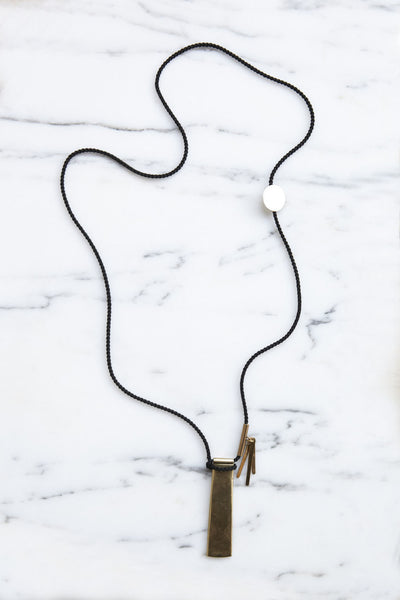 Leigh Miller Three Charm Necklace | Oroboro Store | Brooklyn, New York