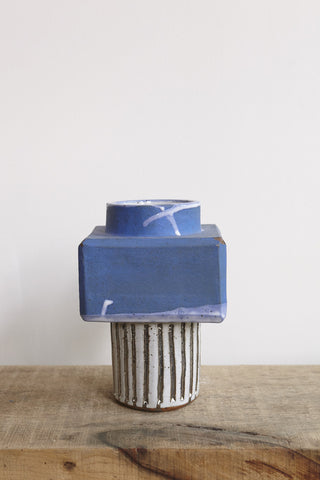 BZIPPY Blue Box Top Vase | Oroboro Store | Brooklyn, New York