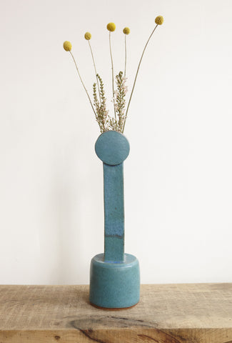BZIPPY Circle Top Tall Vase in Teal | Oroboro Store | Brooklyn, New York