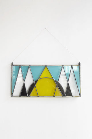 David Scheid Rectangle Stain Glass Hanging | Oroboro Store | Brooklyn, New York