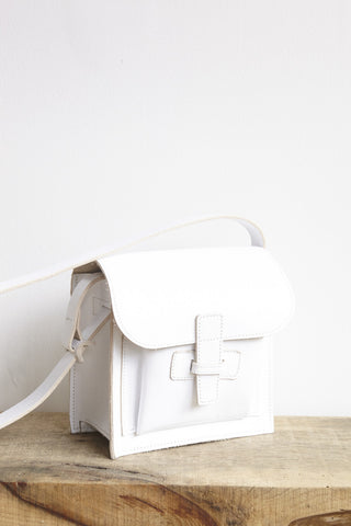 Agnes Badoo Crossbody in White | Oroboro Store | Brooklyn, New York