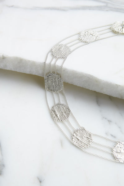 HannahK Lace Collar in Silver | Oroboro Store | Brooklyn, New York