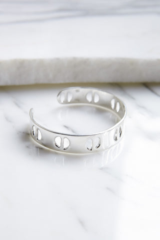 Erin Considine Raw Single Row Cuff in Silver | Oroboro Store | Brooklyn, New York
