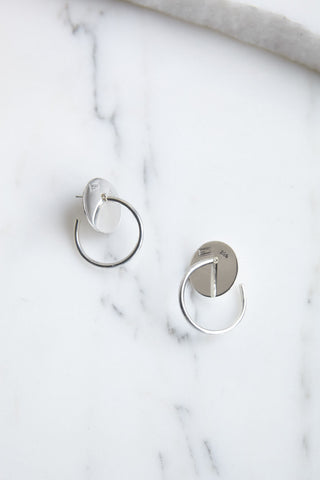 Erin Considine Disc Hoop in Silver | Oroboro Store | Brooklyn, New York