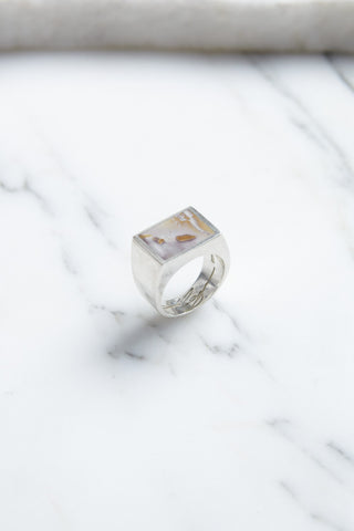Legier Silver Signet Ring with Picasso Jasper | Oroboro Store | Brooklyn, New York
