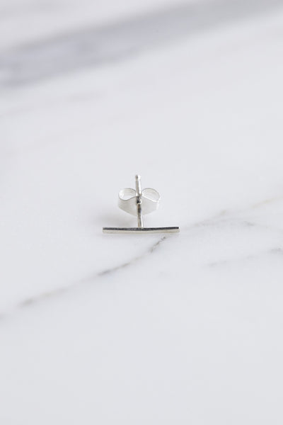 Kathleen Whitaker Staple Stud in Silver | Oroboro Store | Brooklyn, New York