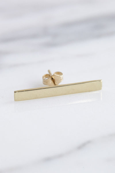 Kathleen Whitaker Long Plate Stud | Oroboro Store | Brooklyn, New York