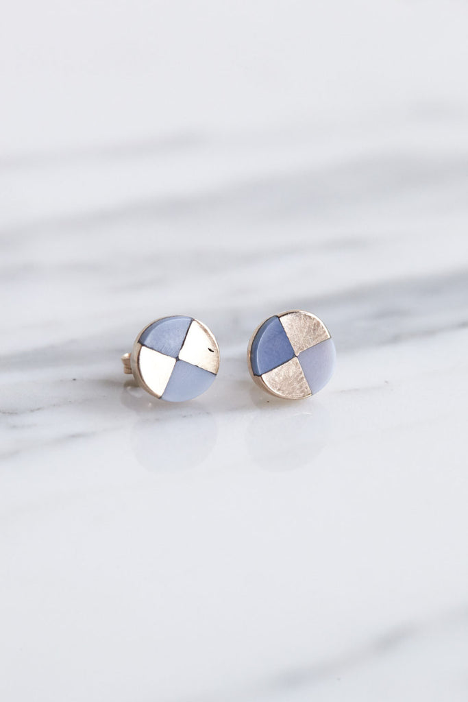 Ursa Major Ray Studs in Rose Gold & Blue Opal | Oroboro Store | Brooklyn, New York