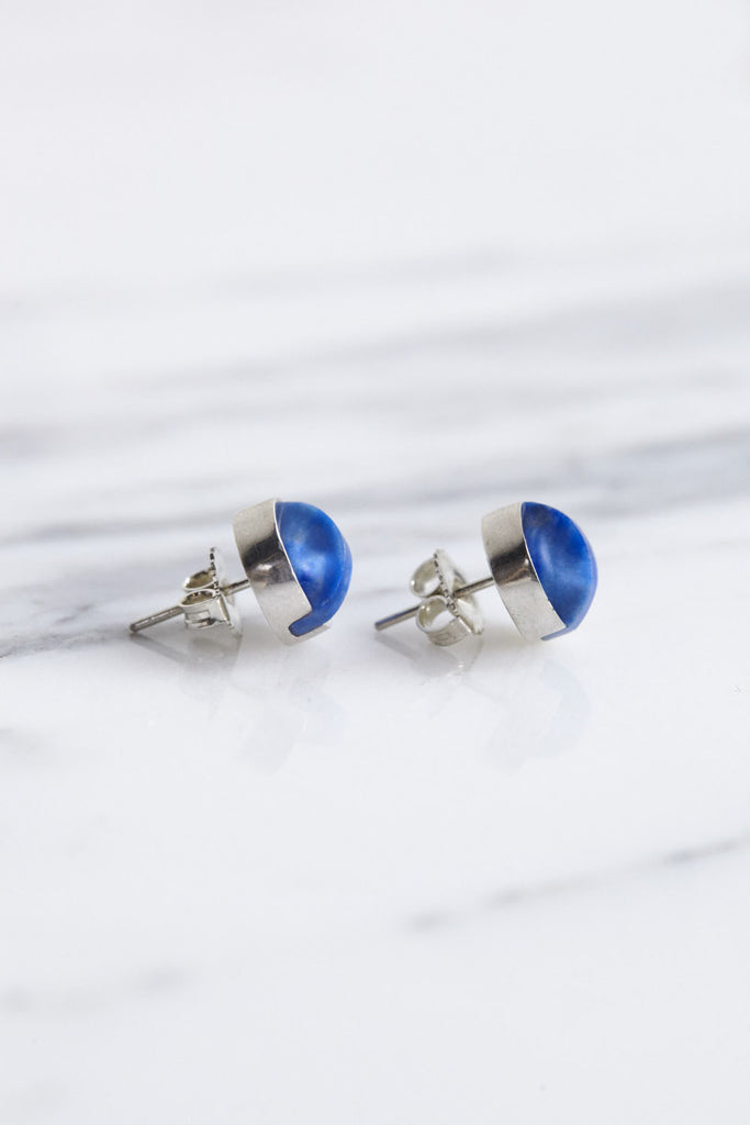 Ursa Major Aten Earrings in Bright Lapis | Oroboro Store | Brooklyn, New York