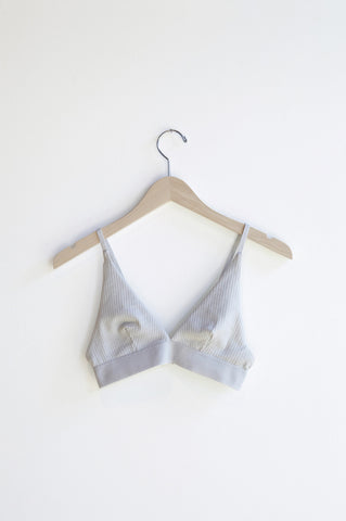 Base Range Triangle Bra in Dusty Blue | Oroboro Store | Brooklyn, New York