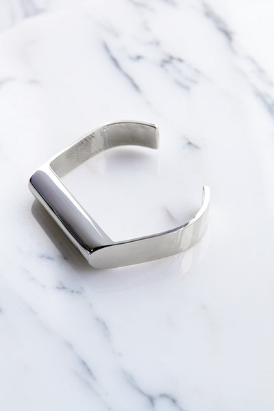 Quarry Mierle Cuff in White Bronze | Oroboro Store | Brooklyn, New York