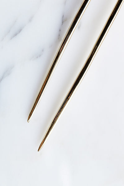 Quarry Large Spire Hairpin in Brass | Oroboro Store | Brooklyn, New York