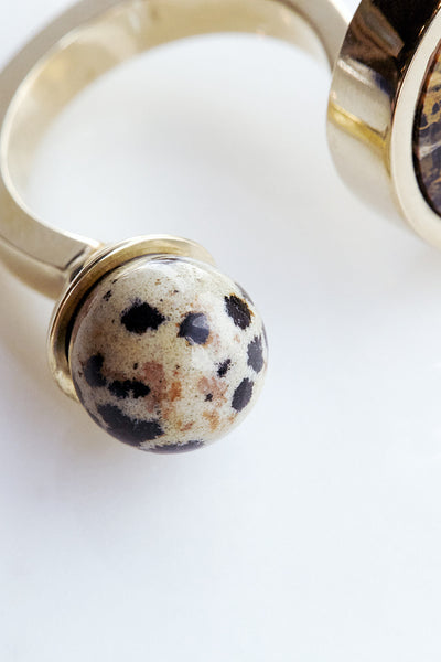 Quarry Jasper Double Ring | Oroboro Store | Brooklyn, New York