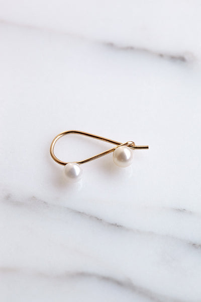Quarry Triptych Pearl Earrings | Oroboro Store | Brooklyn, New York